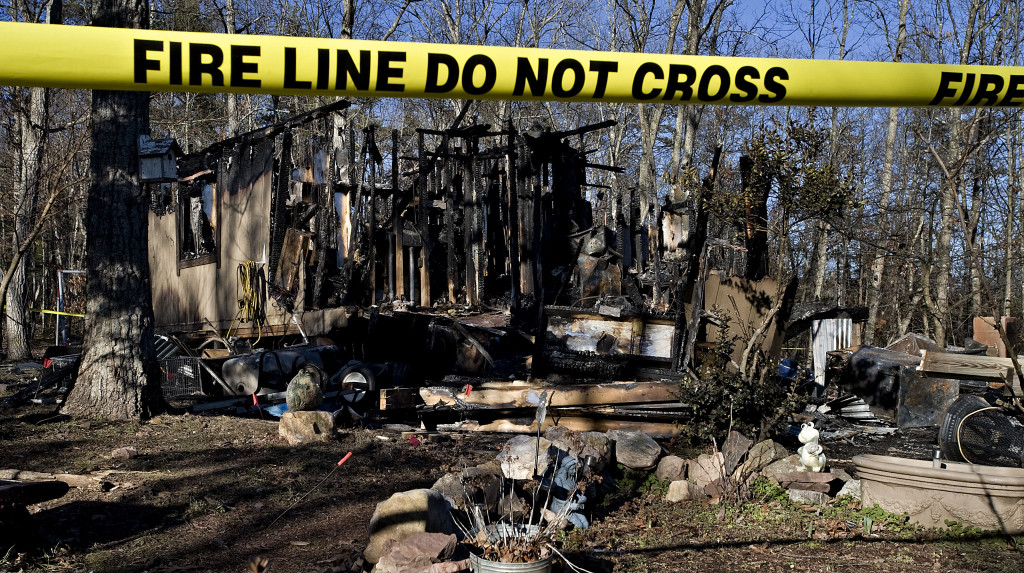 An area man was killed Thursday in a fire west of Mount Jackson that left the rest of his family homeless.  Rich Cooley/Daily